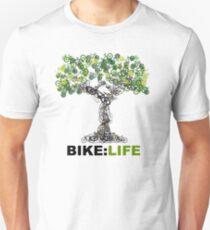 Fahrrad: LEBEN Baum Slim Fit T-Shirt