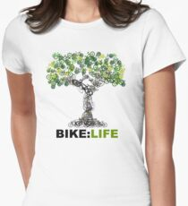 BIKE:LIFE tree Women's Fitted T-Shirt