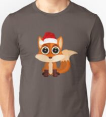 Christmas Fox Unisex T-Shirt