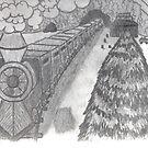 TRAIN IN THE SNOW by NEIL STUART COFFEY