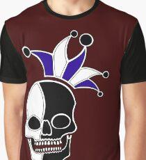 Joker Skull Staff Graphic T-Shirt