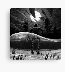 Drawlloween 2014: Creature from the Black Lagoon Canvas Print