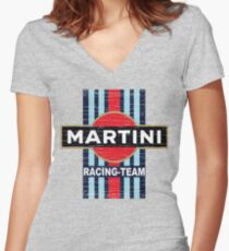 Vintage Martini Racing Women's Fitted V-Neck T-Shirt