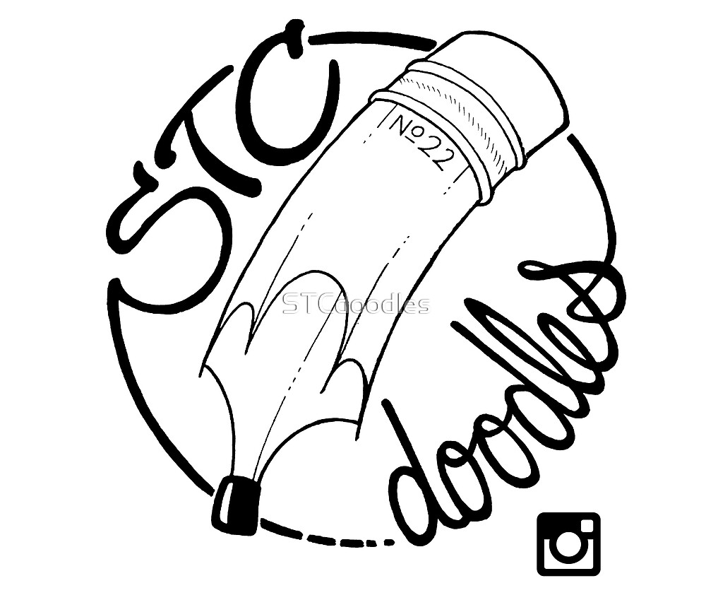 STC doodles - Logo (Black) by STCdoodles