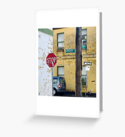 Greeves St. Greeting Card