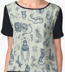 Beings and Creatures  Women's Chiffon Top