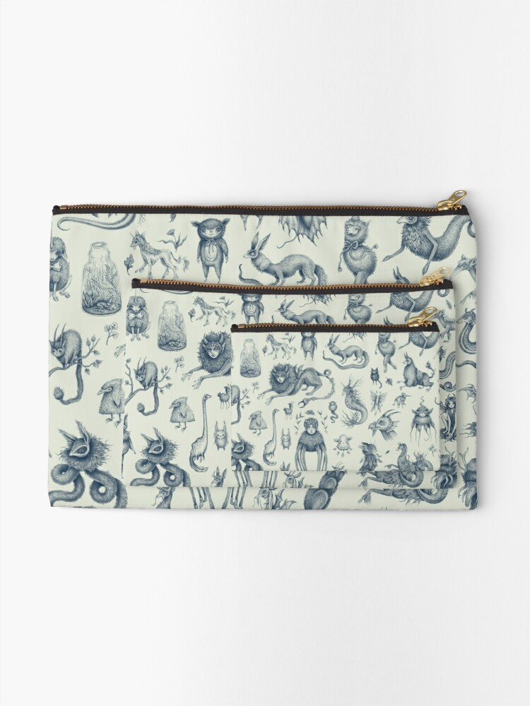Alternate view of Beings and Creatures  Zipper Pouch