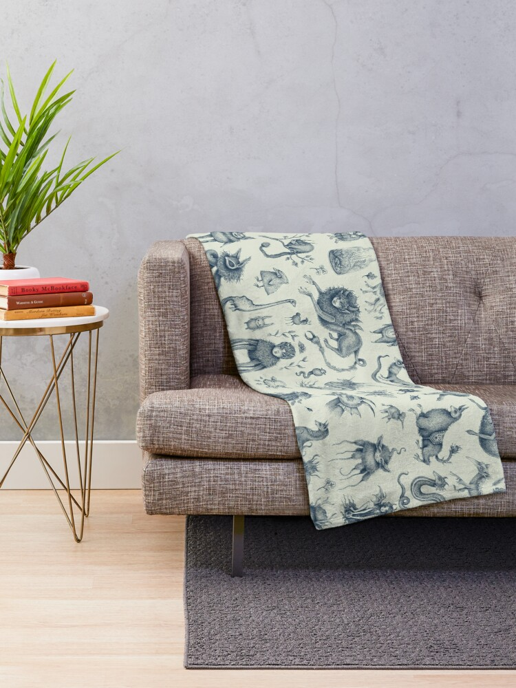 Alternate view of Beings and Creatures  Throw Blanket