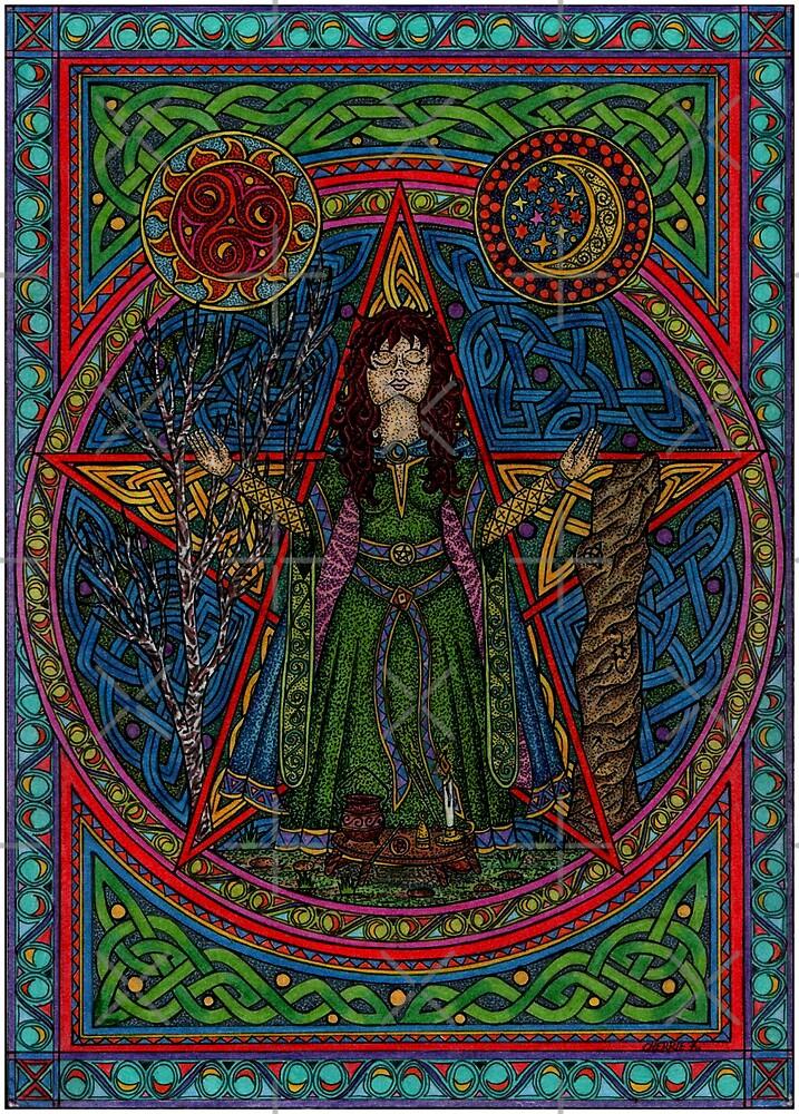 Hedgewitch Pentagram by CherrieB