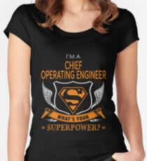 CHIEF OPERATING ENGINEER Women's Fitted Scoop T-Shirt