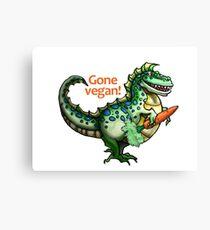 Tyrannosaurus rex gone vegan! Canvas Print