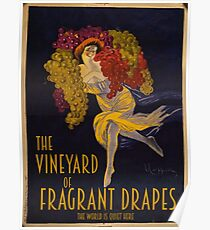 Visit the Vineyard of Fragrant Drapes! Poster