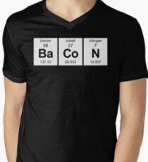 Bacon Periodic Table Men's V-Neck T-Shirt