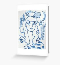 The Writer Greeting Card