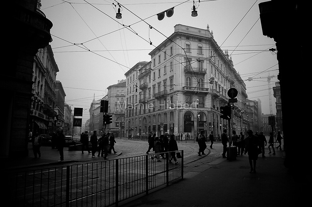 Daily activity in Milan by Marnie Hibbert