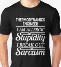 THERMODYNAMICS ENGINEER Slim Fit T-Shirt