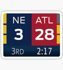 "Super Bowl LI Comeback (2.2""x1.6"") Sticker"