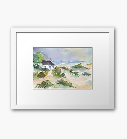 Fisherman's Cottage in South Africa Framed Print