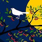 White Birds Illustration by Myron Watamaniuk