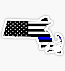 Massachusetts — Thin Blue Line Sticker