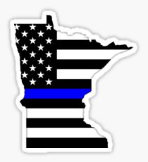 Minnesota - dünne blaue Linie Sticker
