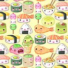 Japanese Foods Pattern by beaglecakes