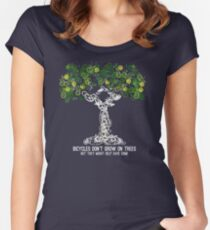 Bike Tree (white) Women's Fitted Scoop T-Shirt