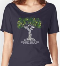 Bike Tree (white) Women's Relaxed Fit T-Shirt