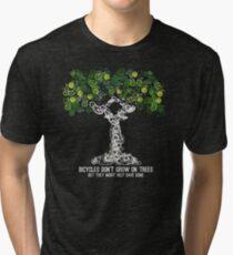 Bike Tree (white) Tri-blend T-Shirt