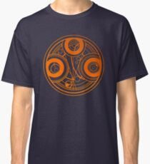 Orange Circular Gallifreyan - Doctor Who Classic T-Shirt