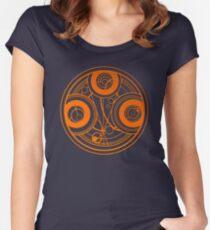 Orange Circular Gallifreyan - Doctor Who Women's Fitted Scoop T-Shirt