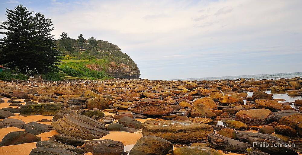 Rocks To The Head - Avalon Beach , Sydney Australia by Philip Johnson
