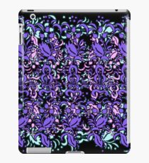 Floral Multi Layer Pattern - Purple Shades iPad Case/Skin