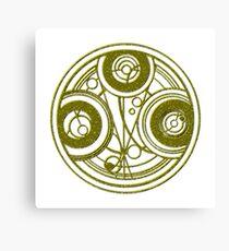 Golden Circular Gallifreyan Doctor Who Canvas Print