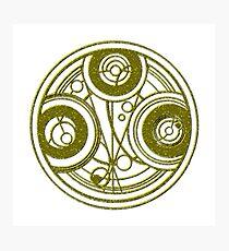 Golden Circular Gallifreyan Doctor Who Photographic Print