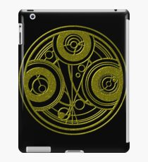 Golden Circular Gallifreyan Doctor Who iPad Case/Skin