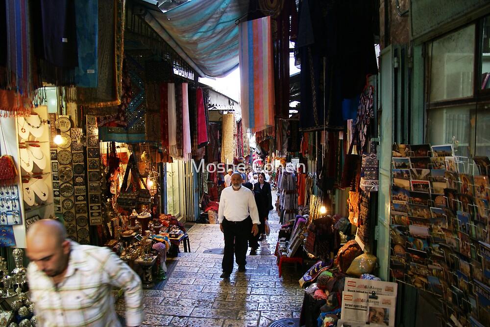 Jerusalem old city market by Moshe Cohen