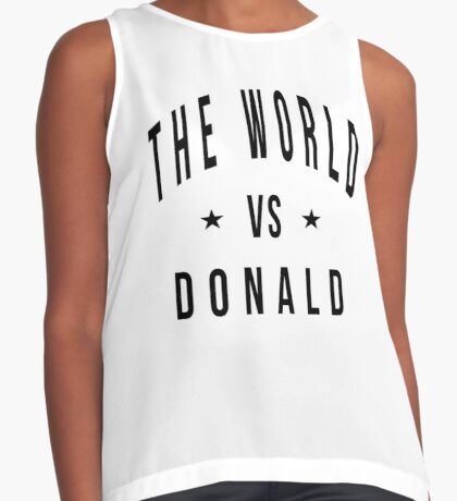 The world vs donald Contrast Tank