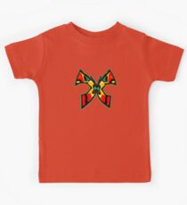 Abstract Butterfly - Red, Black, Yellow, Blue Kids Tee