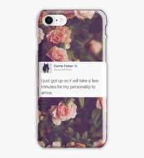 CARRIE FISHER - PERSONALITY TWEET  iPhone Case/Skin