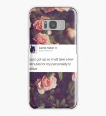 CARRIE FISHER - PERSONALITY TWEET  Samsung Galaxy Case/Skin