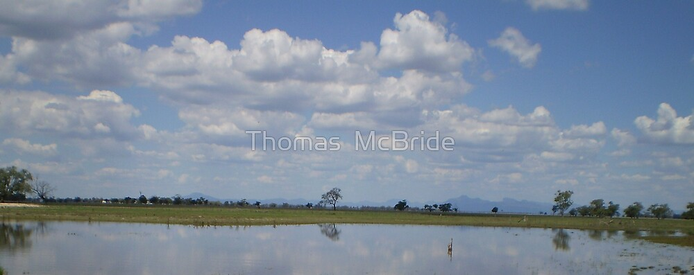 lake and sky by Thomas  McBride
