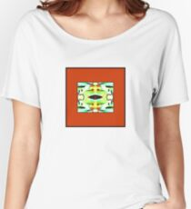 Abstract framed in Orange - Blue, Yellow, Green,  Women's Relaxed Fit T-Shirt