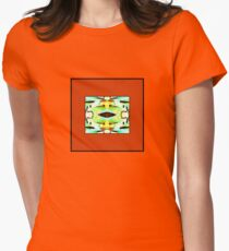 Abstract framed in Orange - Blue, Yellow, Green,  T-Shirt