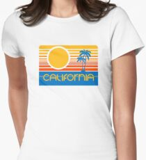 Retro California Women's Fitted T-Shirt