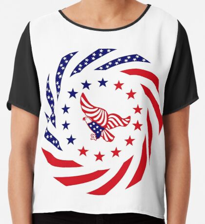 Independent Murican Patriot Flag Series Chiffon Top