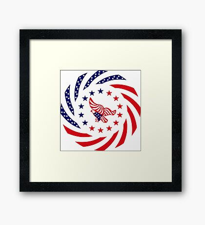 Independent Murican Patriot Flag Series Framed Print