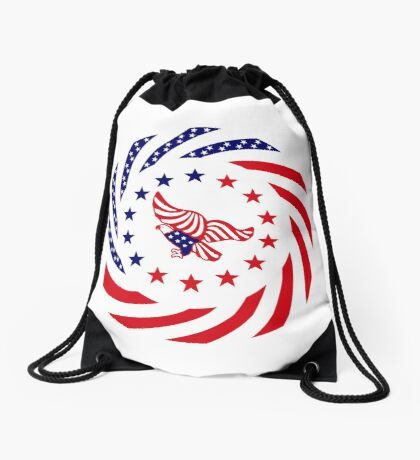 Independent Murican Patriot Flag Series Drawstring Bag