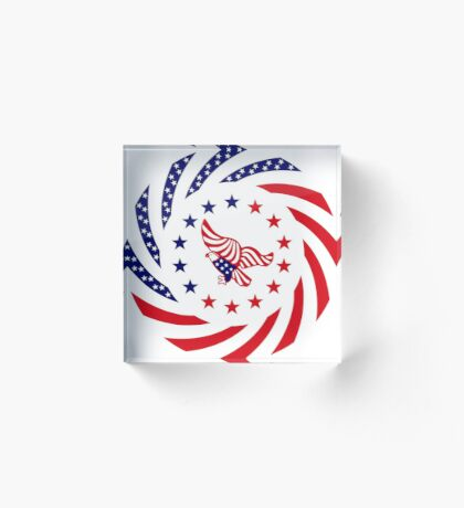 Independent Murican Patriot Flag Series Acrylic Block