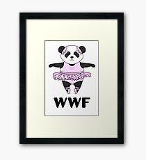 WWF Panda parody ballerina Framed Print